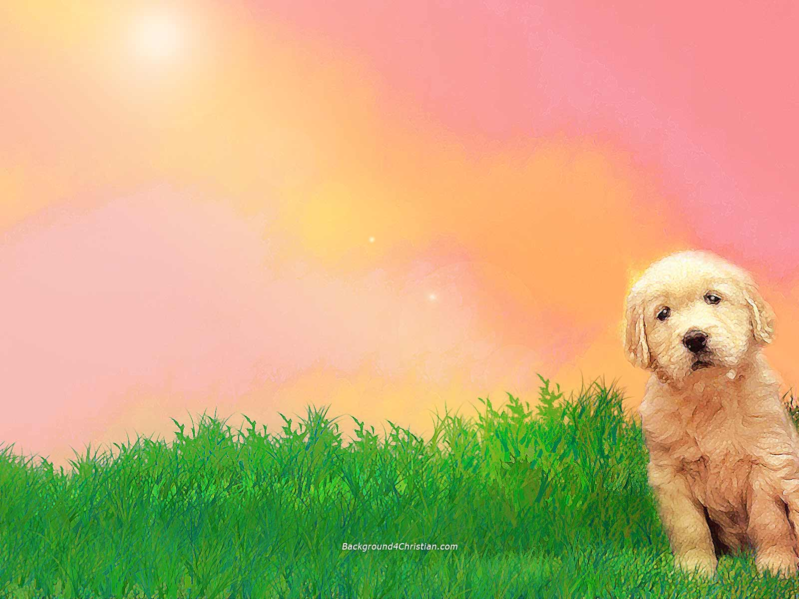 Cute dog background 4 christian worship slide template you can download this dog ppt background for toneelgroepblik Gallery